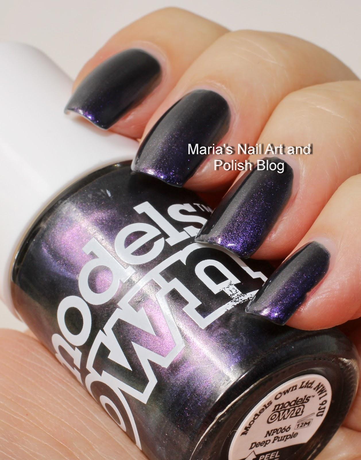 Marias Nail Art and Polish Blog: Models Own swatch spam: Deep Purple ...