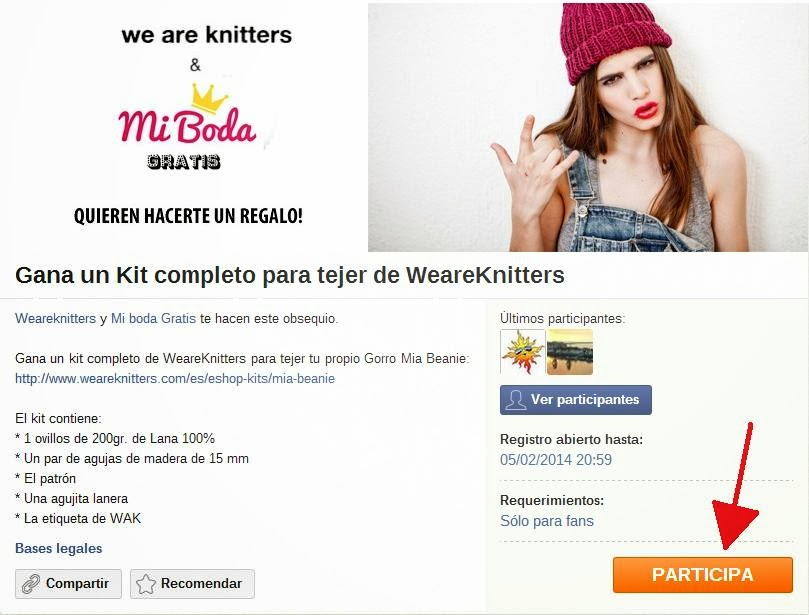 sorteo mia beanie kit we are knitters blog mi boda gratis