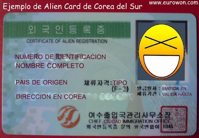 Tarjeta de residencia para extranjeros en Corea