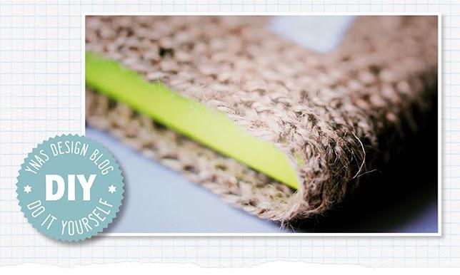 Ynas Design Blog, DIY Notizbuch-Hülle, häkeln mit Paketschnur