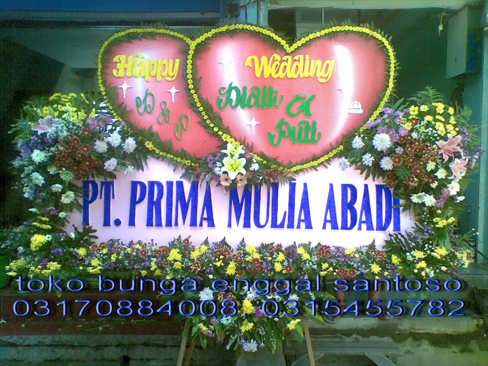 bunga papan ucapan toko bunga surabaya