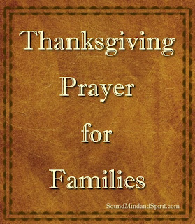 Thanksgiving Prayer for Families