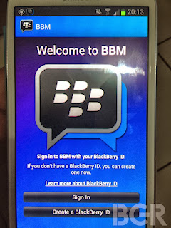 BBM for Android I Phone free releasd now
