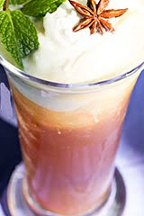 King of Thailand Memorial Iced Tea w/ Whipped Coconut Cream