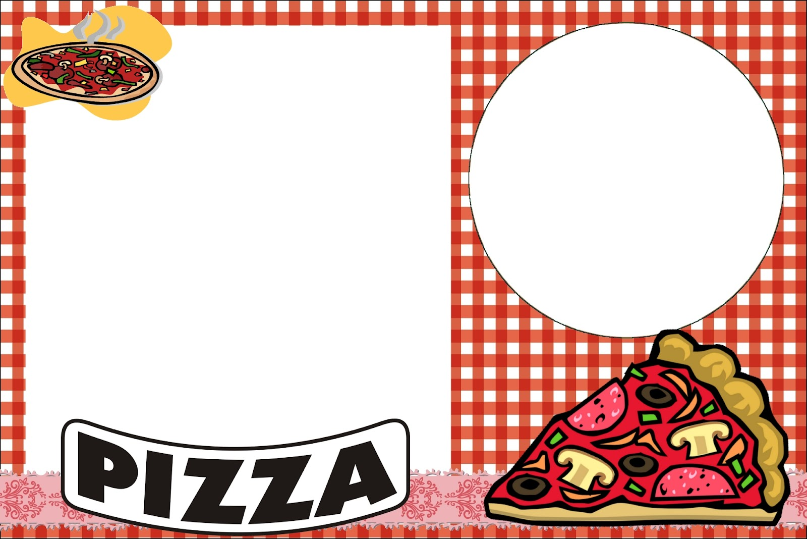 Free printable pizza party invitations – Pizza Party Invitation Template Free