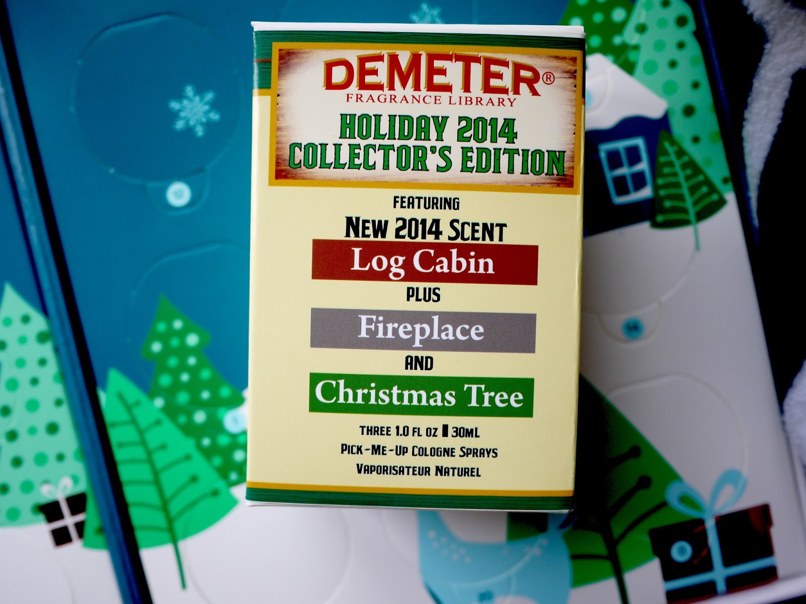 Demeter Holiday 2014 Collector's Edition christmas tree fireplace log cabin review