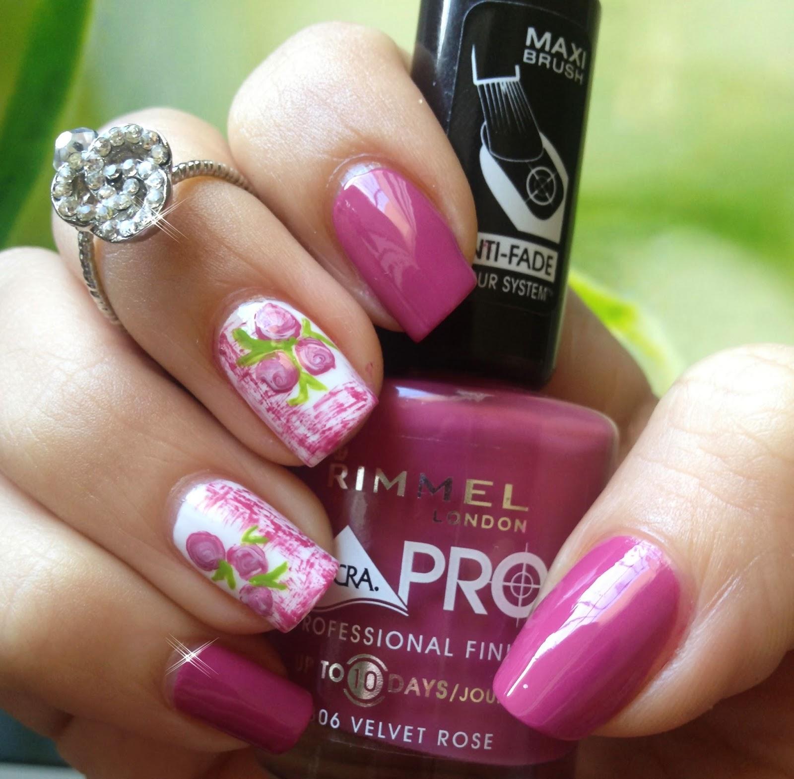 Pretty Pretty : Nail Art Printemps Facile Roses 2015