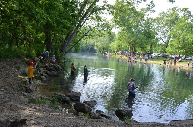 Weaver 39 s tackle store bennett spring fishing report for 5 for Bennett springs trout fishing
