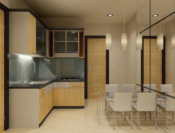 desain rumah dapur bentuk l minimalis