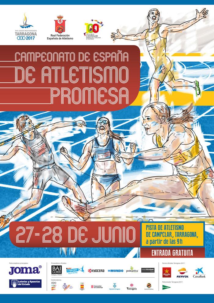 Laura García-Caro y Carlos Martín onubenses en el XXX Campeonato de España Promesa de Atletismo