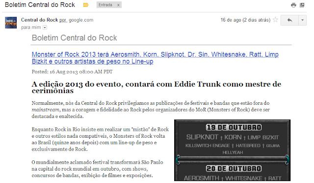 assine boletim central do rock newsletter heavy metal hard rock classic rock dicas reviews de equipamentos guitarras pedais pedal amplificadores válvulas valvuados