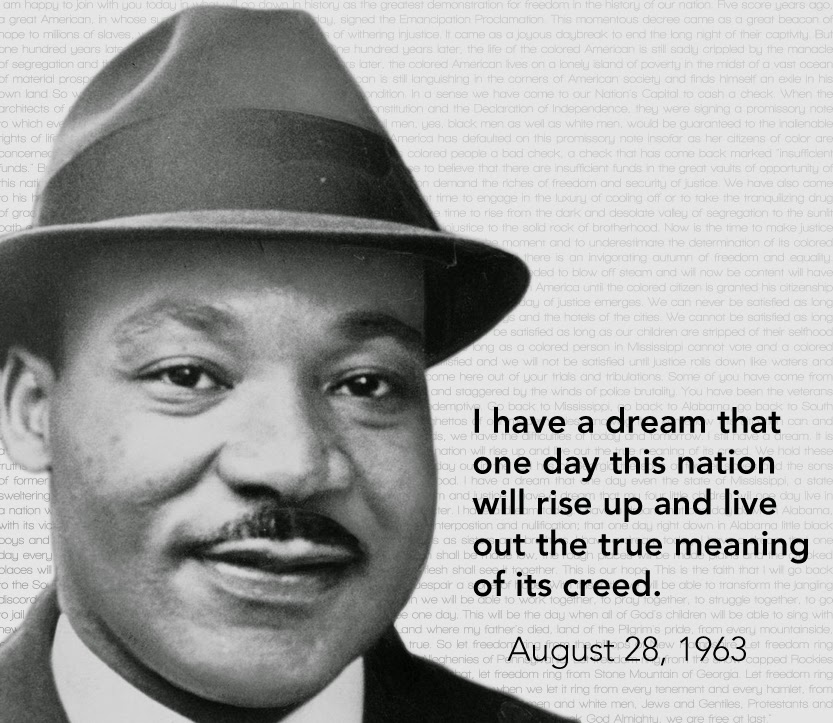 dr martin luther king i have Martin luther king's i have a dream speech had a defining influence on the  history of the united states find out about the story of his life.