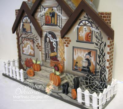 wood halloween house side