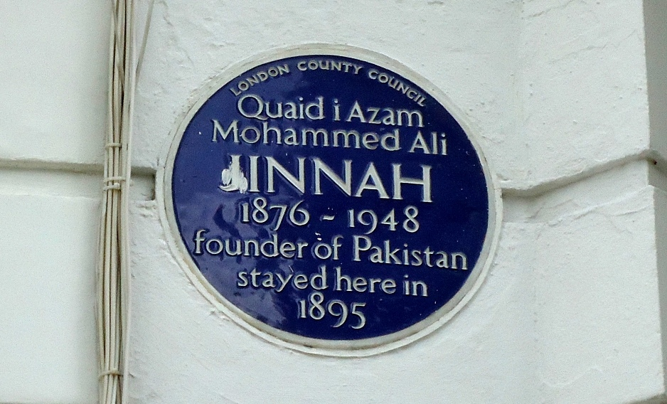 London Blue Plaque dedicated to Jinnah