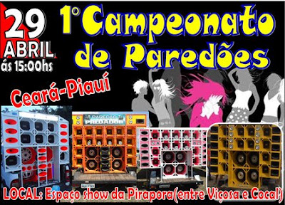 1° Campeonato de paredões em Pirapora