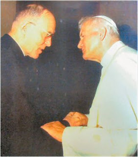 Klaus With Pope JPII