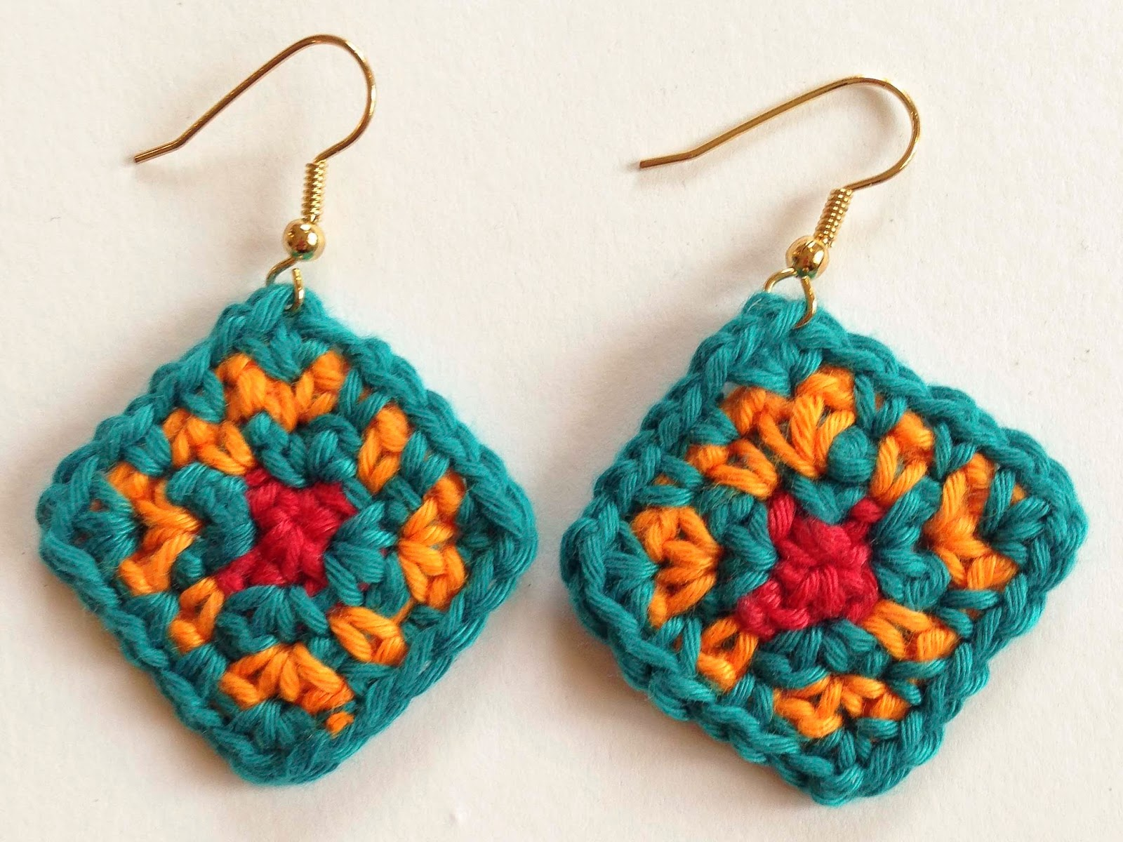 Crochet Earrings : The Colors of Africa Crochet Earrings
