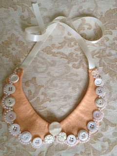 Decorated Peter Pan collar