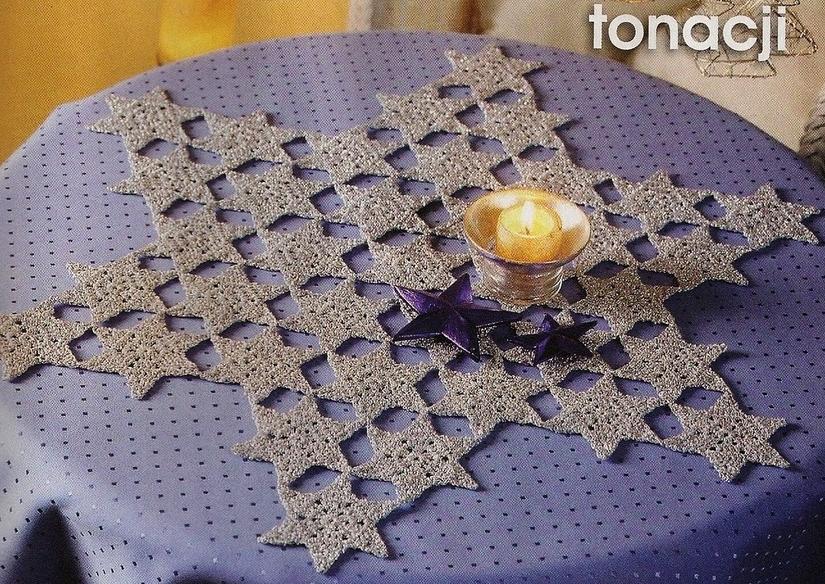 Toalhinha estrela em crochê