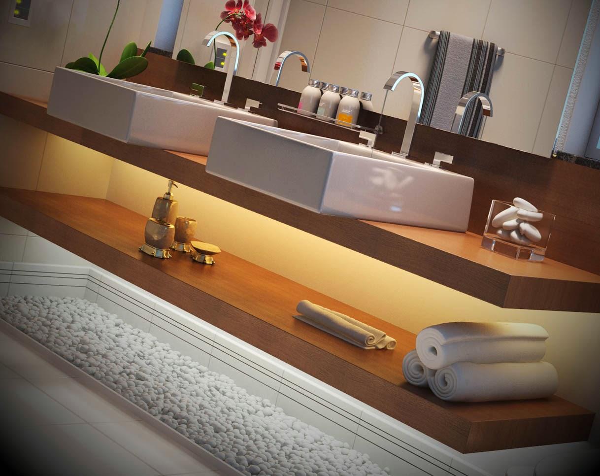 Para o ajudar selecionamos um conjunto de vários banheiros decorados  #9C652F 1218x966 Banheiro Adequado Para O Gato