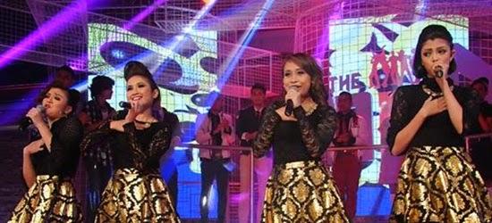 Team The Band: Anggun Ahli Anggun: Tiara Ross, Heela Monica, Zera Hariz, Farahain Lagu anggun Gilalah, konsert the band minggu 5