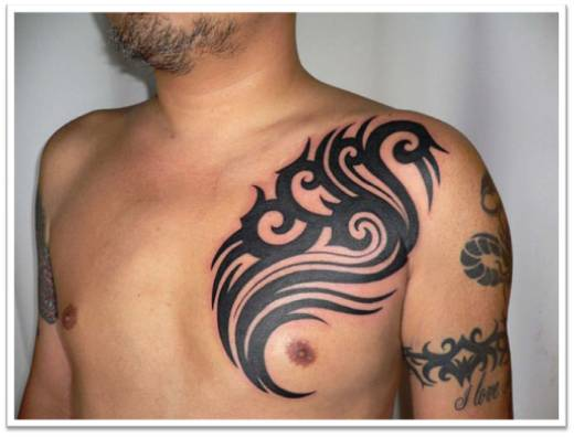 Masculine Chest Tattoos For Men Amazing Tattoos