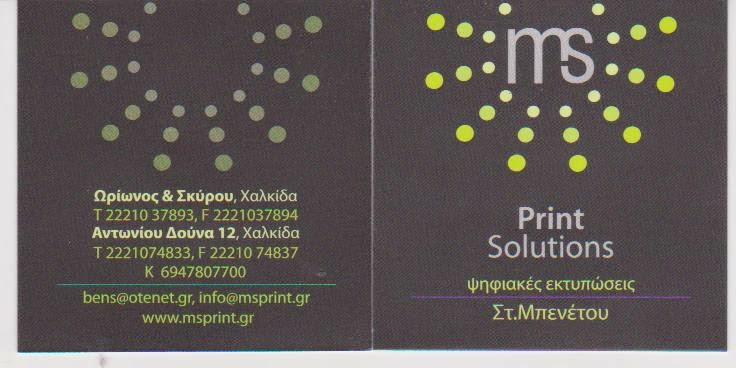 MS PRINT SOLUTIONS