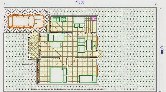 desain rumah atap limas