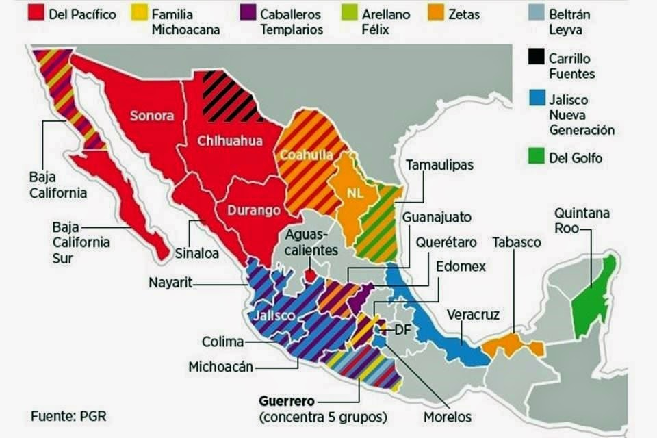 March 2015 New Cartel Map Including Zeta And Cdg Cells In Tamaulipas
