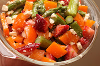 Asparagus-Strawberry-Feta Salad