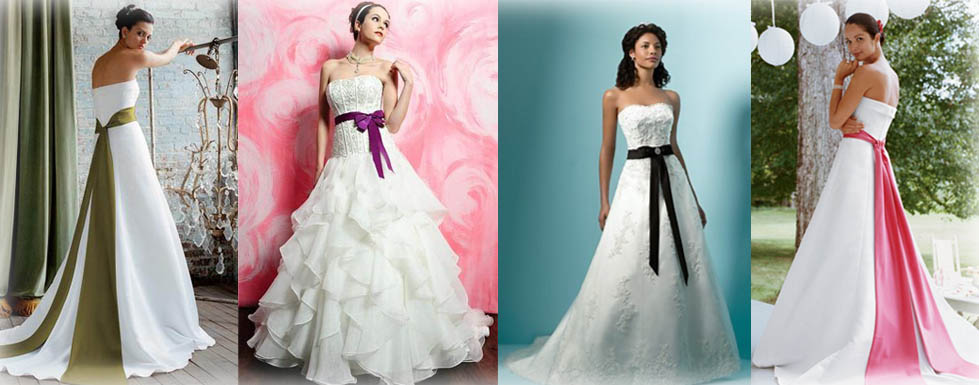 Wedding Dresses With Colored Sashes - Expensive Wedding Dresses Online