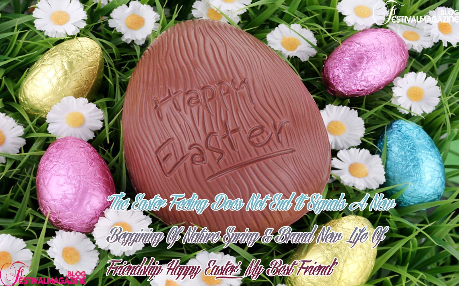 Festival Magazine Happy Easter Day Event Wallpapers With Greetings