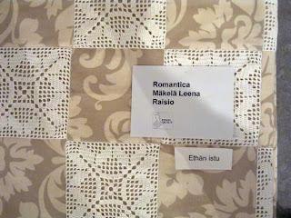 Leena Mäkelä: Romantica - yksityiskohta tilkkutyöstä
