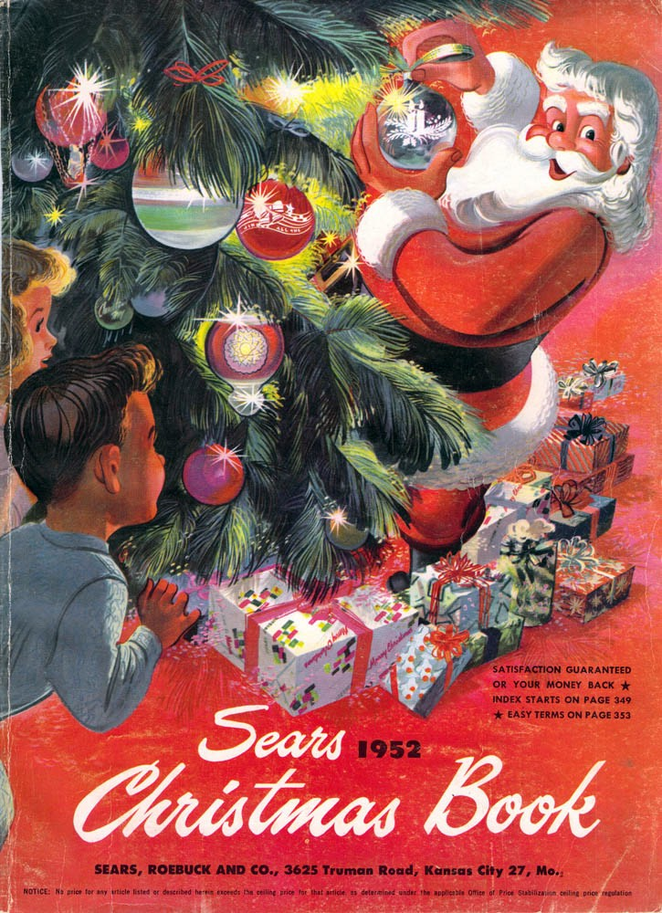 sears christmas book 1952 cover - Christmas Mail Order Catalogs