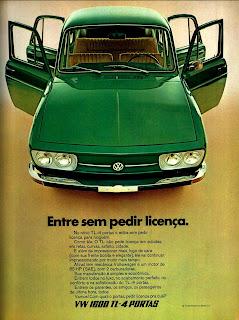 propaganda Volkswagen TL - 1600  com  4 portas - 1971;1971; brazilian advertising cars in the 70s; os anos 70; história da década de 70; Brazil in the 70s; propaganda carros anos 70; Oswaldo Hernandez;