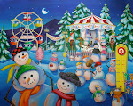 Snowman Carnival 200 Piece Puzzle