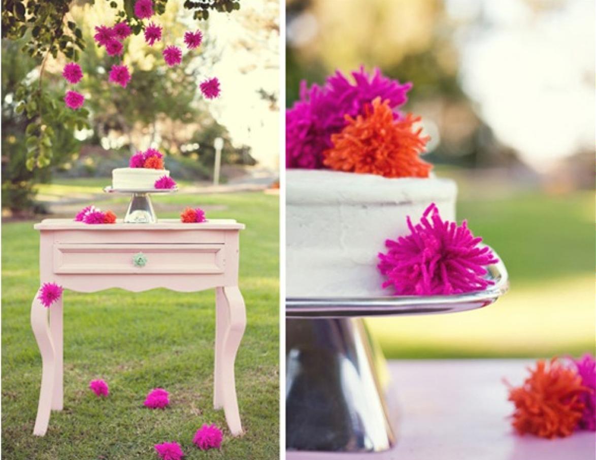 Ideas para decorar un evento con pompones de lana