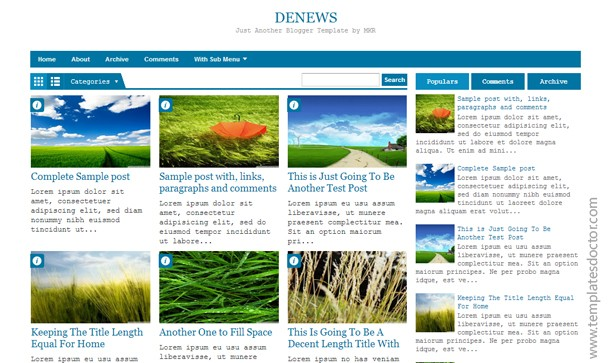DeNews Blogger Template