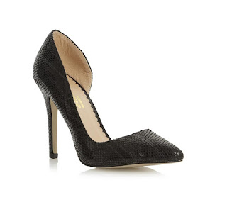 Dune black high heeled pumps