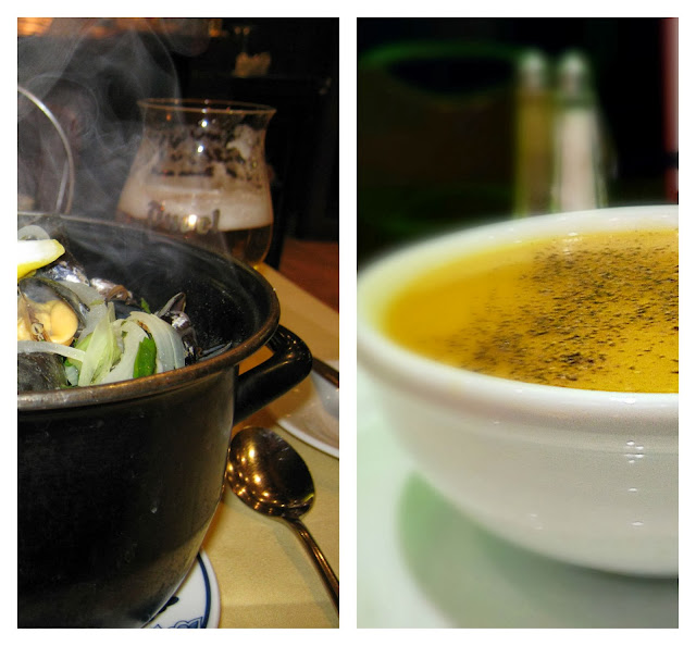 mussels and pumpkin soup
