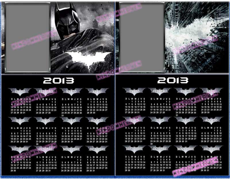 calendarios psd png 2013 para imprimir batman