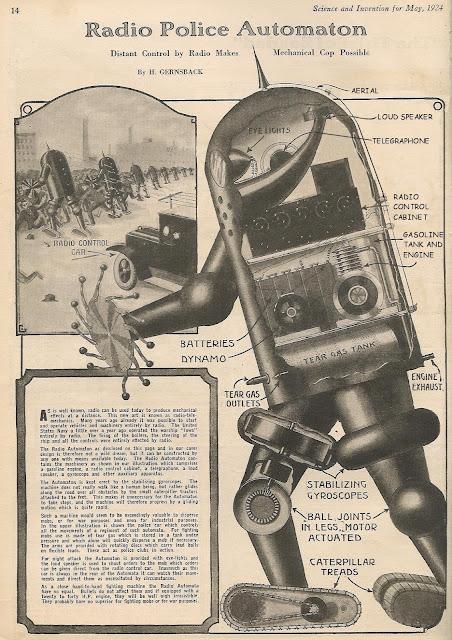 Radio Police Automaton, prototipo de robot policia del año 1924