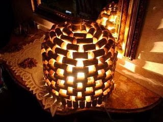 The art of up cycling upcycle wine corks creative ideas for cork lamps aloadofball Choice Image