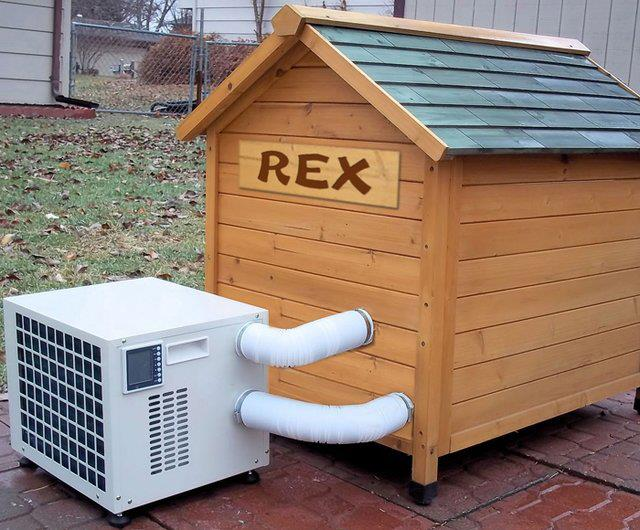pets offmag climateright dog house air conditioner heater With dog houses with air conditioning and heating