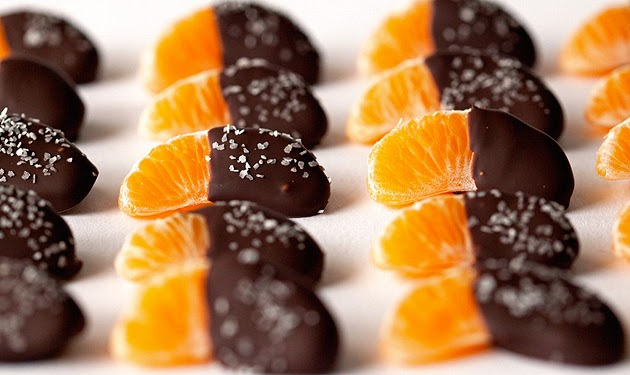 chocolate dipped mandarin slices