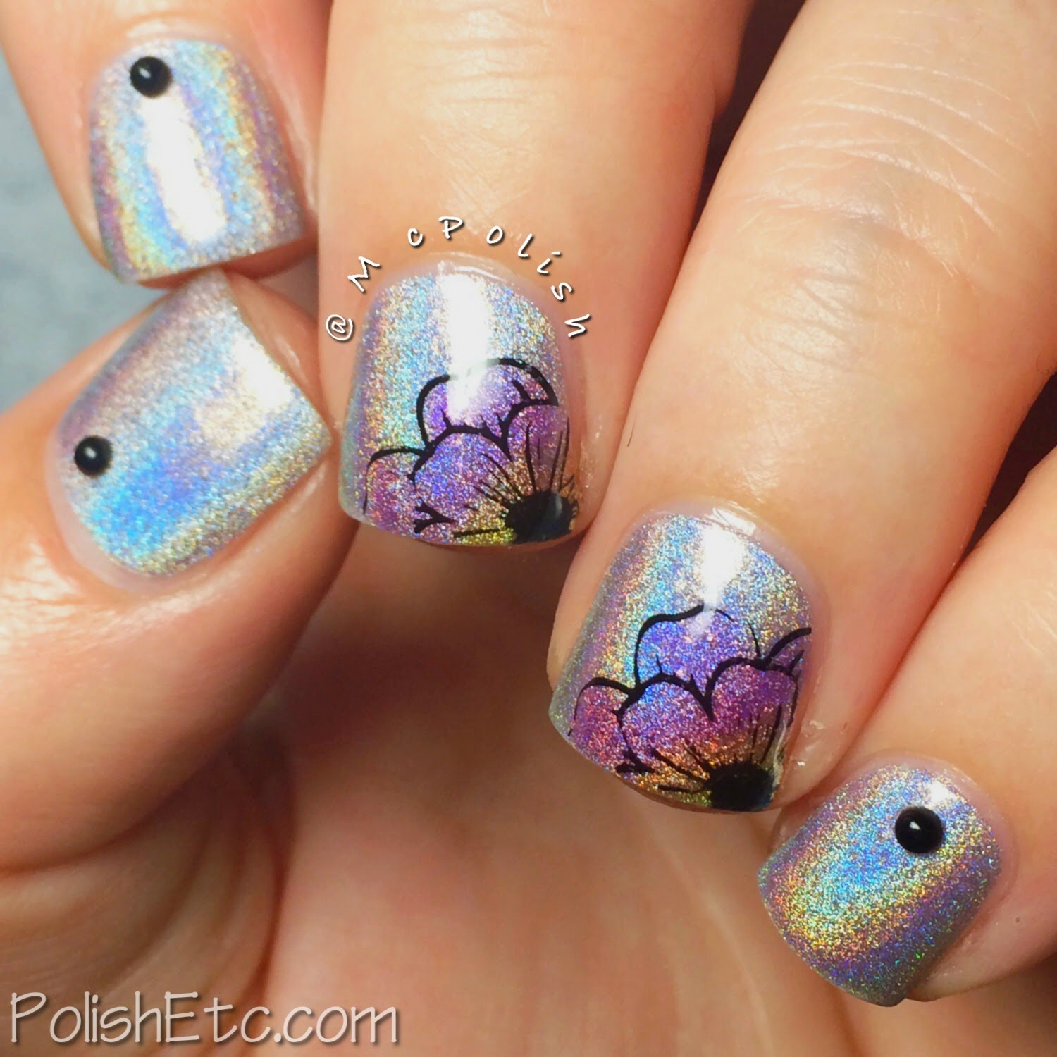 Digital Nails - Wow (nail art by McPolish)