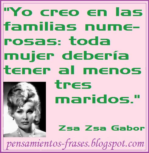 frases de Zsa Zsa Gabor