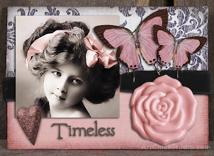 Timeless Beauty ATC Altered Art
