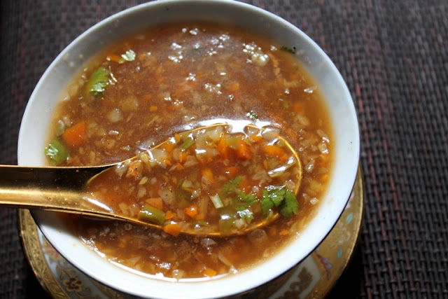 Hot and Sour Vegetable Soup Recipe - Restaurant Style Hot and Sour Soup Recipe