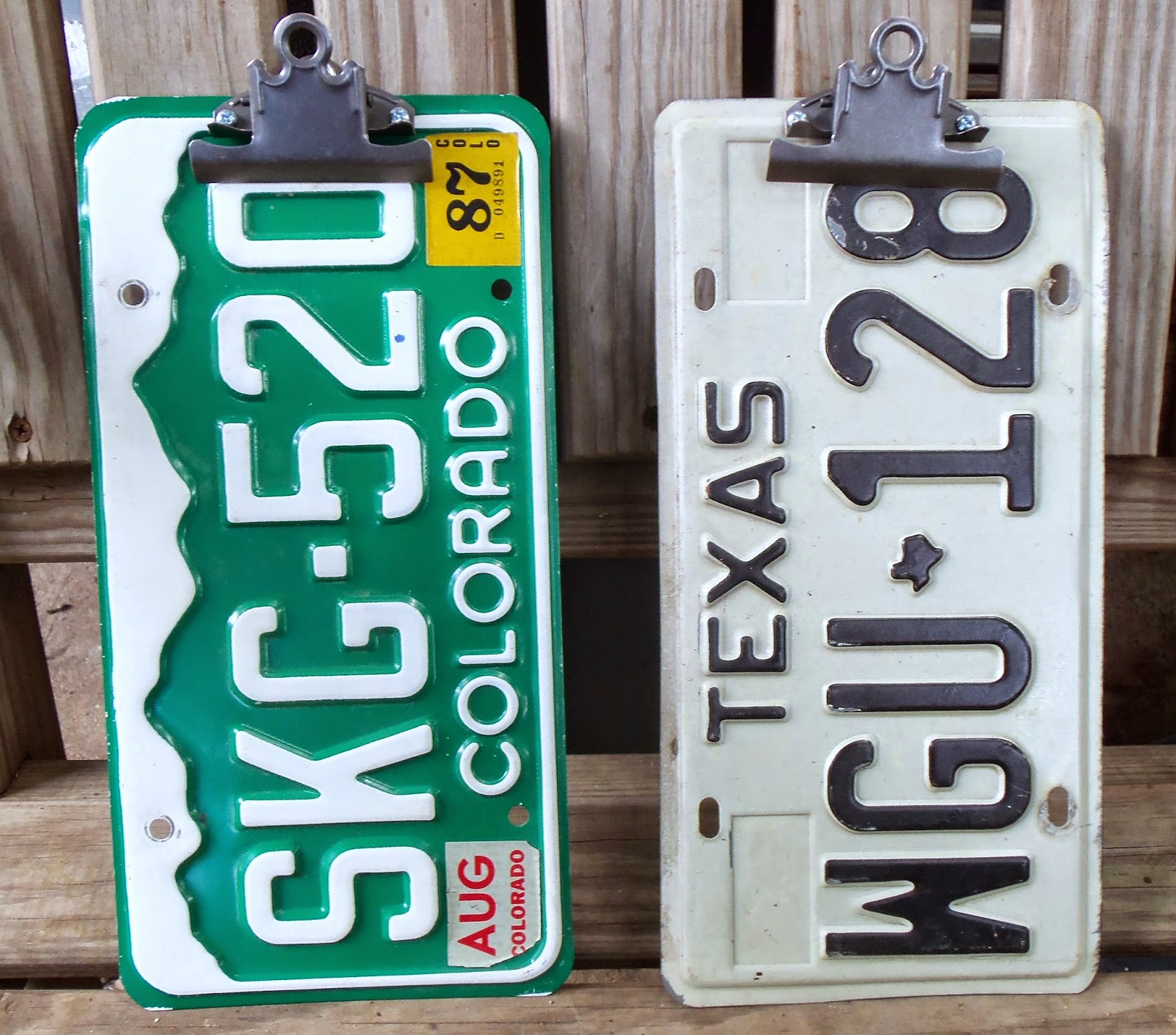 live. love. scrap.: Clipboards Made From License Plates